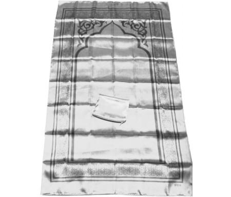 Tapis de poche pliable et transportable avec son étui de couleur brillante - Couleur gris argenté