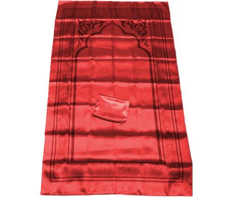 Tapis de poche pliable et transportable avec son étui de couleur brillante - Couleur rouge bordeaux