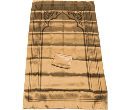 Tapis de poche pliable et transportable avec son étui de couleur brillante - Couleur marron