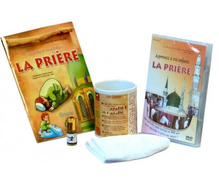 Coffret Cadeau Halal : Apprenez à vos enfants la prière (Livre - DVD - Parfum - Mug - Chachia)