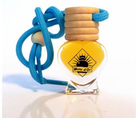 """Diffuseur de parfum """"Aladin"""" pour la voiture sous forme de coeur (5 ml) mixte"""