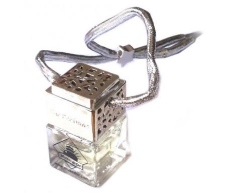 Diffuseur de parfum pour voiture (Désodorisant auto et parfumeur - Argenté) - Musc au choix