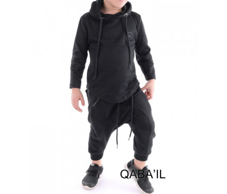 Ensemble Enfant Qabail ONYX Junior (10 - 16 ans) - Noir