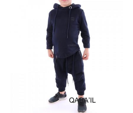 Ensemble Enfant Qabail ONYX JUNIOR (10-16 ans) - Bleu nuit