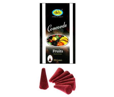 Encens bakhour Concorde - 20 cônes parfumés Fruits - Cycle Fruits Concorde Incense Cones