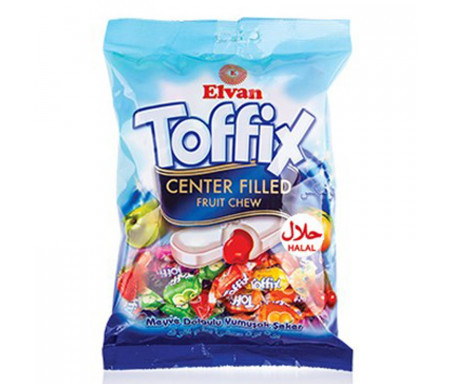 ELVAN Toffix bonbon enveloppés fourrés fruits 350gr x 10pcs