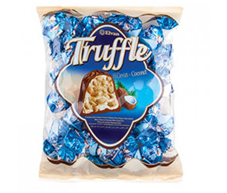 ELVAN Truffle 500g x 10pcs Bag HINDISTAN CEVIZLI / Bonbons Truffle à la Noix de Coco