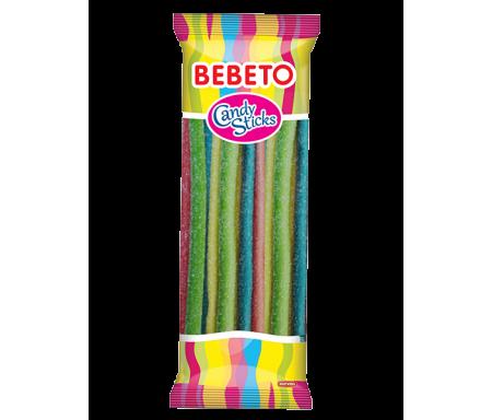 BEBETO (0527) Candy Sticks Bonbon Halal Baton Fourré Tutti Acide 180gr x 24pcs