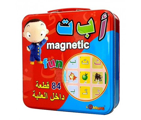 Jeu de magnets de l'alphabet arabe (84 magnets) - Magnetic Fun - لعبة مغناطيس الحروف العربية