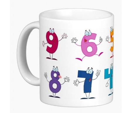 Mug pour enfants : Mes drôles de chiffres tout en couleurs (Je découvre les chiffres de 0 à 9)