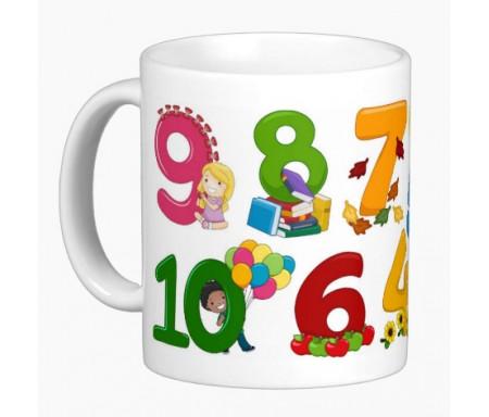 """Mug pour enfants : J'apprends à compter """"1 à 10"""""""