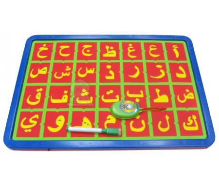 Grand tableau magnétique alphabet arabe avec face effaçable