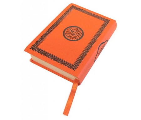 Saint Coran de poche couverture flexible orange (Hafs)