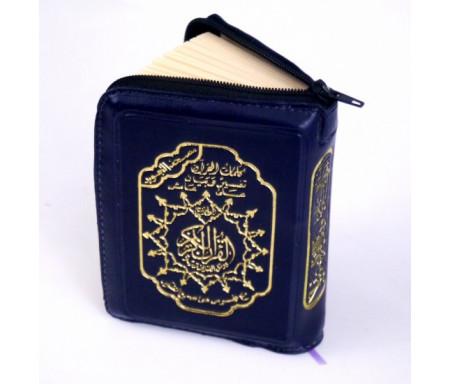 Coran complet pochette zip avec règles de tajwîd ( 7 x 10 cm) - Lecture Hafs