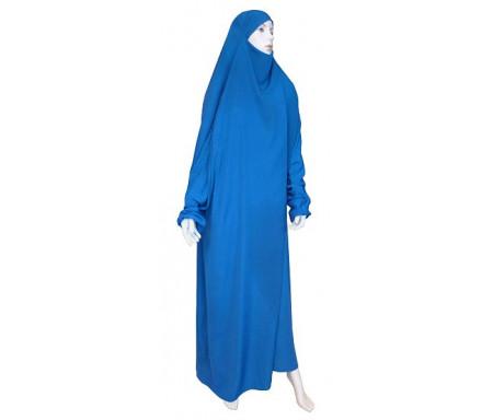 Jilbab Al-Haramayn une (1) pièce - Couleur bleu pétrole