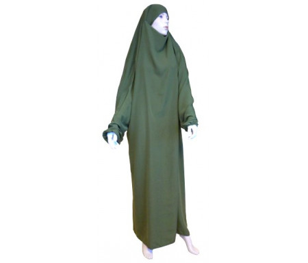 Jilbab Al-Haramayn une (1) pièce - Couleur vert Olive