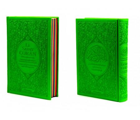 Le Saint Coran Rainbow (Arc-en-ciel) - Français/arabe avec transcription phonétique - Le Saint Coran Rainbow (Arc-en-ciel) - Français/arabe avec transcription phonétique - Edition de luxe (Couverture Cuir Vert clair)
