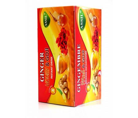 Thé naturel au gingembre, miel et Goji