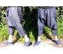 Pantalon sarouel jeans bleu marine Al-Haramayn Deluxe (Taille XL) - Modèle Cordon et poche avec fermeture zip