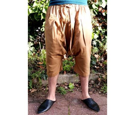 Pantalon Sarouel / Serwal confort en gabardine de coton pour homme - Taille XXL - Coloris beige