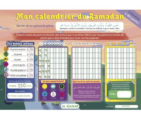 Mon calendrier du mois de Ramadan - Calendrier à 180 points