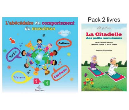 Pack 2 livres : La invocations et les bonnes manières des petits musulmans (La Citadelle et le bon comportement du petit musulman)