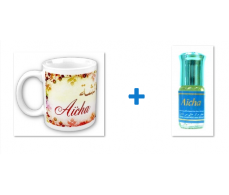 """Pack Mug (tasse) + Parfum """"Aicha"""""""