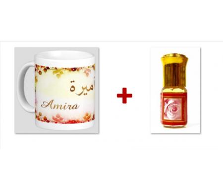 """Pack Mug (tasse) + Parfum """"Amira"""""""