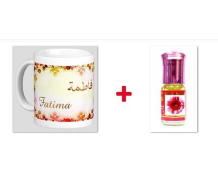 "Pack Mug (tasse) + Parfum ""Fatima"""