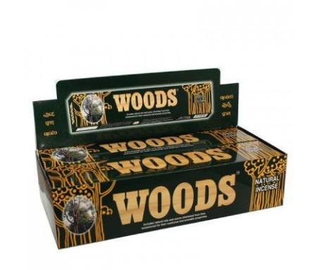 Boîte de 6 paquets Encens Woods - 90 batonnets d'encens indien