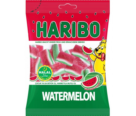 Pastèque HARIBO Halal 100gr