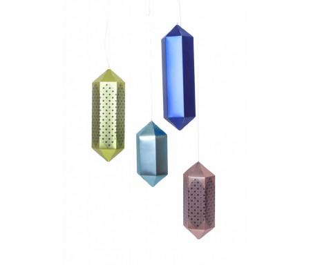 Lot de quatre (4) Lanternes suspendues géométriques