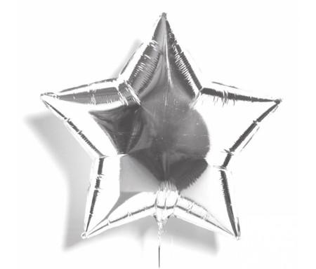 Ballon en mylar Etoile d'argent de 48cm