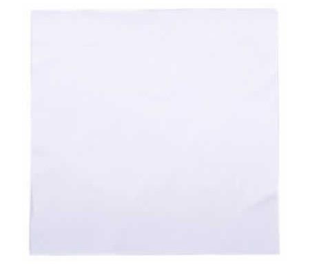 Lot de 16 grandes Serviettes de table gaufrées couleur Blanche