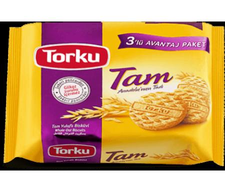 Biscuits à l'Avoine (125gr x 3) - Lots de 3 Paquets individuels - TORKU