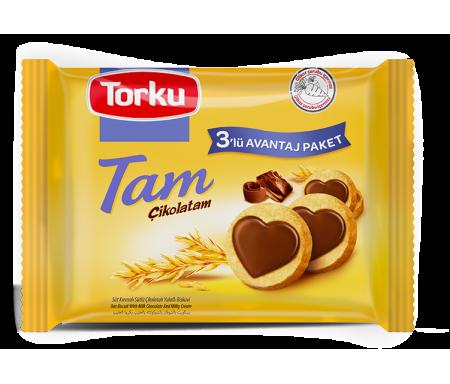 Biscuits à l'avoine au Chocolat au Lait - Lots de 3 Paquets individuels 249gr (83gr x 3) - TORKU