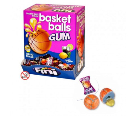 Ballon de Basket-ball en Chewing gum Halal 5gr - FINI