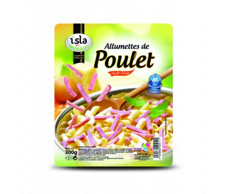 Allumettes de Poulet Gout Fumé certifié AVS 300gr - Isla Mondial