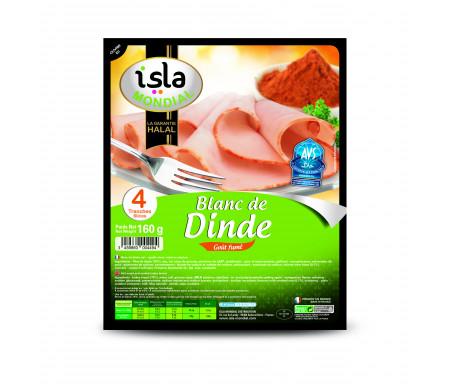 Blanc de Dinde Gout Fumé Halal certifié AVS 160gr (4 tranches) - Isla Mondial