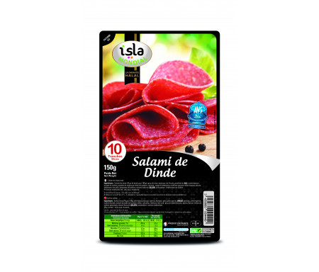 Salami de Dinde certifié AVS 150gr (10 tranches) - Isla Mondial