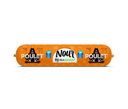 Saucisson Délice de Volaille / Boeuf piquant NOUR Halal certifié AVS 450gr - Isla Mondial