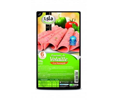 Roulade de Volaille à la Provençale Halal certifié AVS 120gr (6 tranches) - Isla Mondial