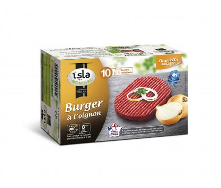 """Steak Haché """"Burger aux Oignons"""" Halal certifié AVS 800gr (10 sachets individuels) - Isla Mondial"""