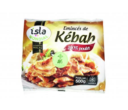 Émincé de Poulet Saveur Kebab Halal certifié AVS 500gr - Isla Mondial