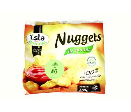 Nuggets 100% Filets de Poulet Halal certifié AVS 400gr - Isla Mondial