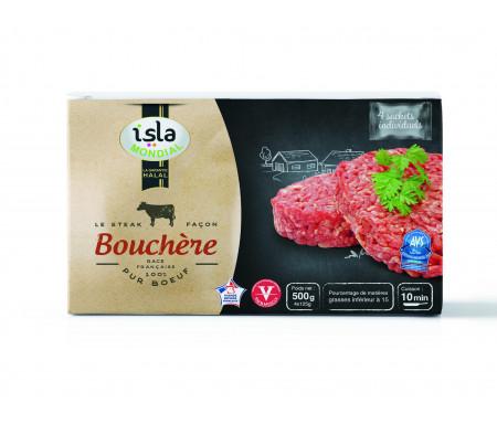 Steak façon Bouchère 100% Pur Bœuf Halal certifié AVS 500gr - Isla Mondial