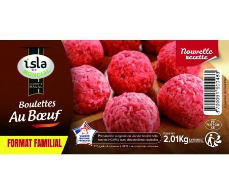 Boulettes au Bœuf format FAMILIAL Halal certifié AVS 2kg - Isla Mondial