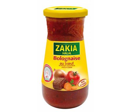 Sauce Bolognaise au Bœuf Halal riche en viande 400gr - ZAKIA