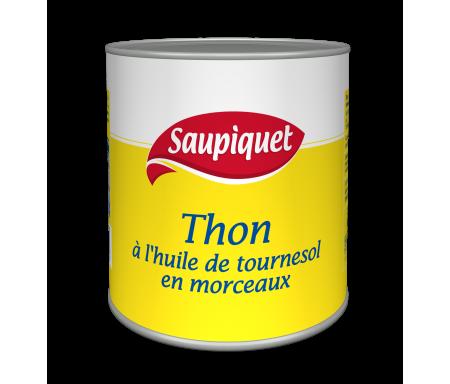 Thon Entier à l'Huile végétale en conserve SAUPIQUET - 800gr