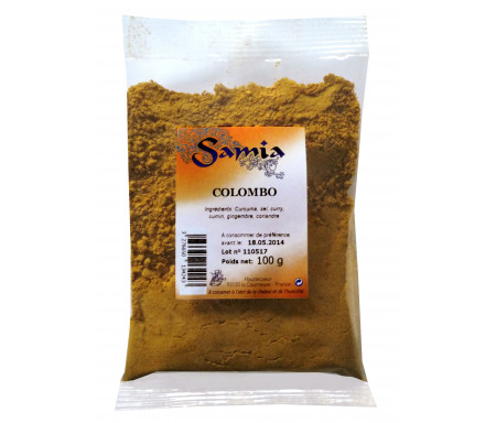 Colombo en poudre / moulu en Sachet de 100gr - SAMIA